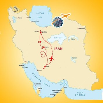 Iran Budget Tour - Trip Map